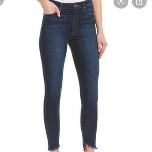 Joe's Jeans Coraline Dark Wash Raw Step Hem Jeans